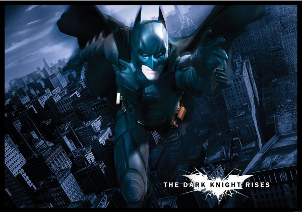Wall mural photo wallpaper 254x184cm batman the dark for Dark knight mural