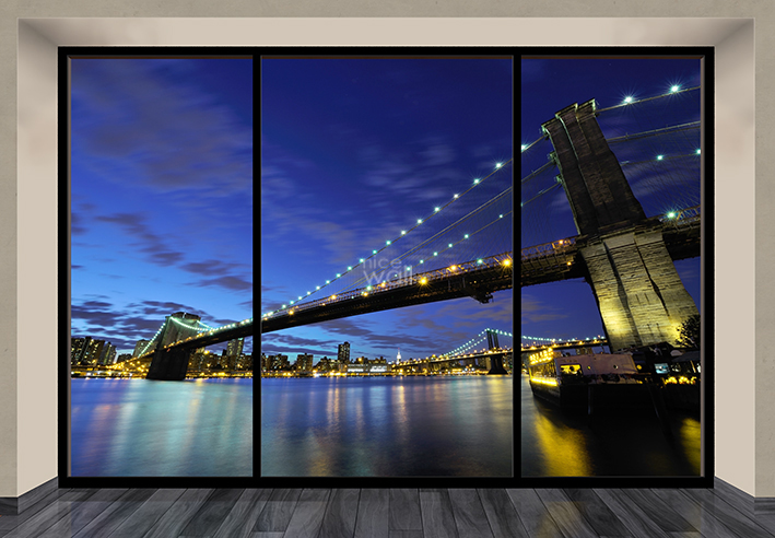 Brooklyn bridge giant wall murals for Brooklyn bridge wallpaper mural