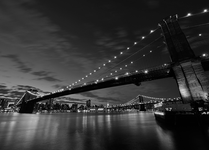 Brooklyn bridge black white wall murals homewallmurals for Brooklyn bridge black and white wall mural