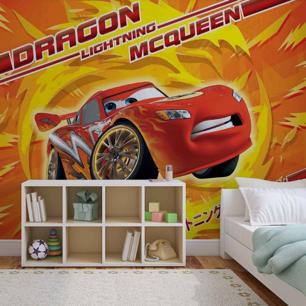 Lightning mcqueen disney wall murals for wall for Disney cars mural uk