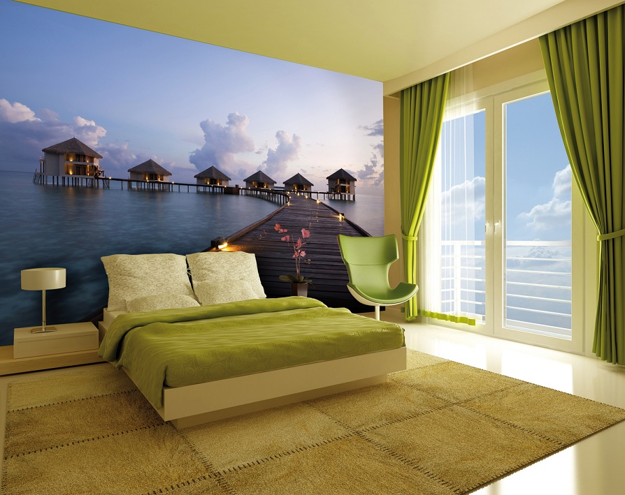 Dream view holiday wall mural wallpaper online shop - Stickers papier peint mural ...