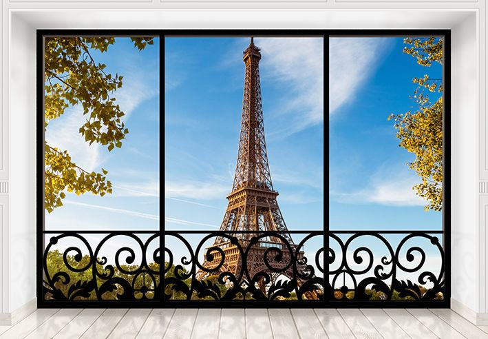 Eiffel tower giant wall mural wallpaper for Eiffel tower mural wallpaper