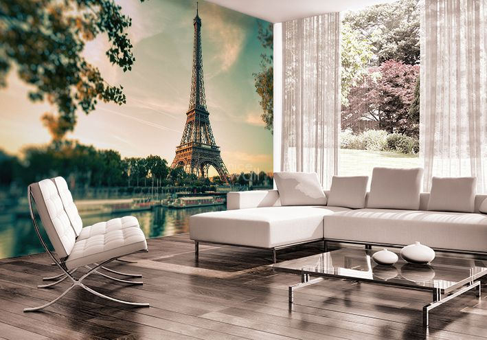 Eiffel tower paris photo wallpaper murals for Eiffel tower mural black and white