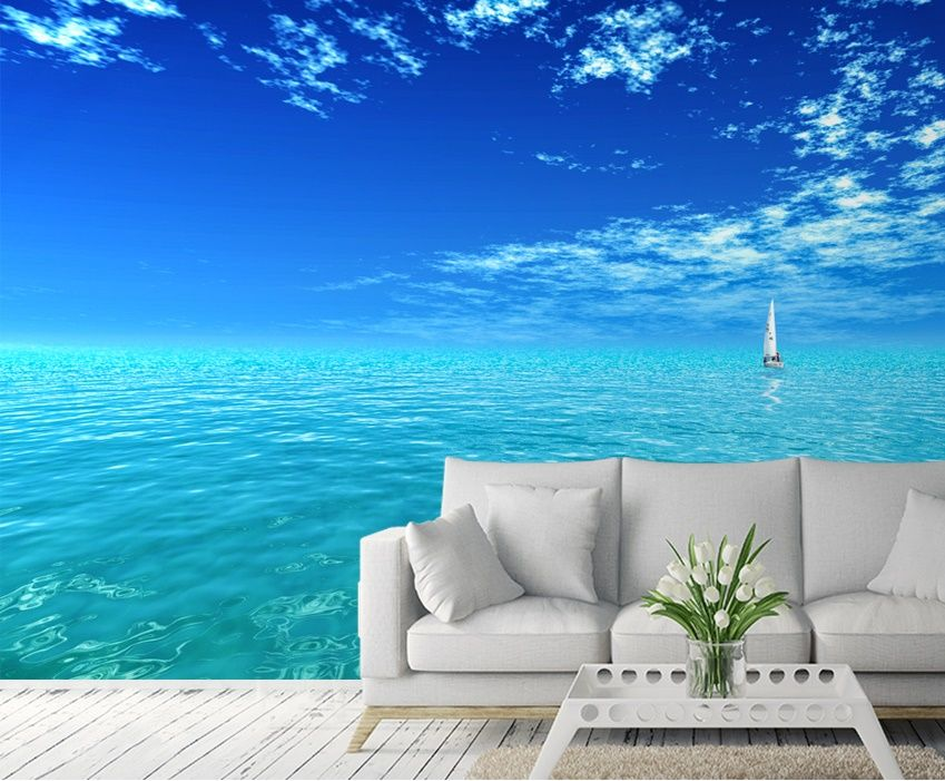 Ocean Wall Mural blue ocean wall murals | homewallmurals.co.uk