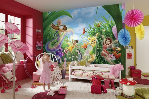 Fairies in the meadow disney wall mural for Fairies wall mural