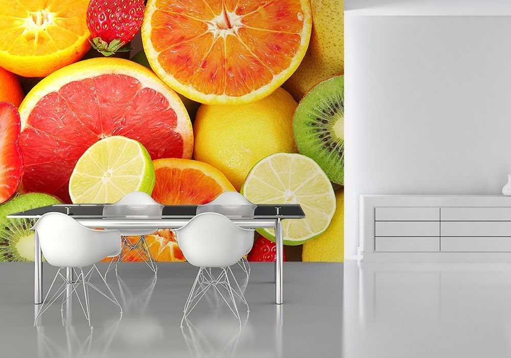 Fruits kitchen wall decor paper wallpapers online store for Kitchen wallpaper uk