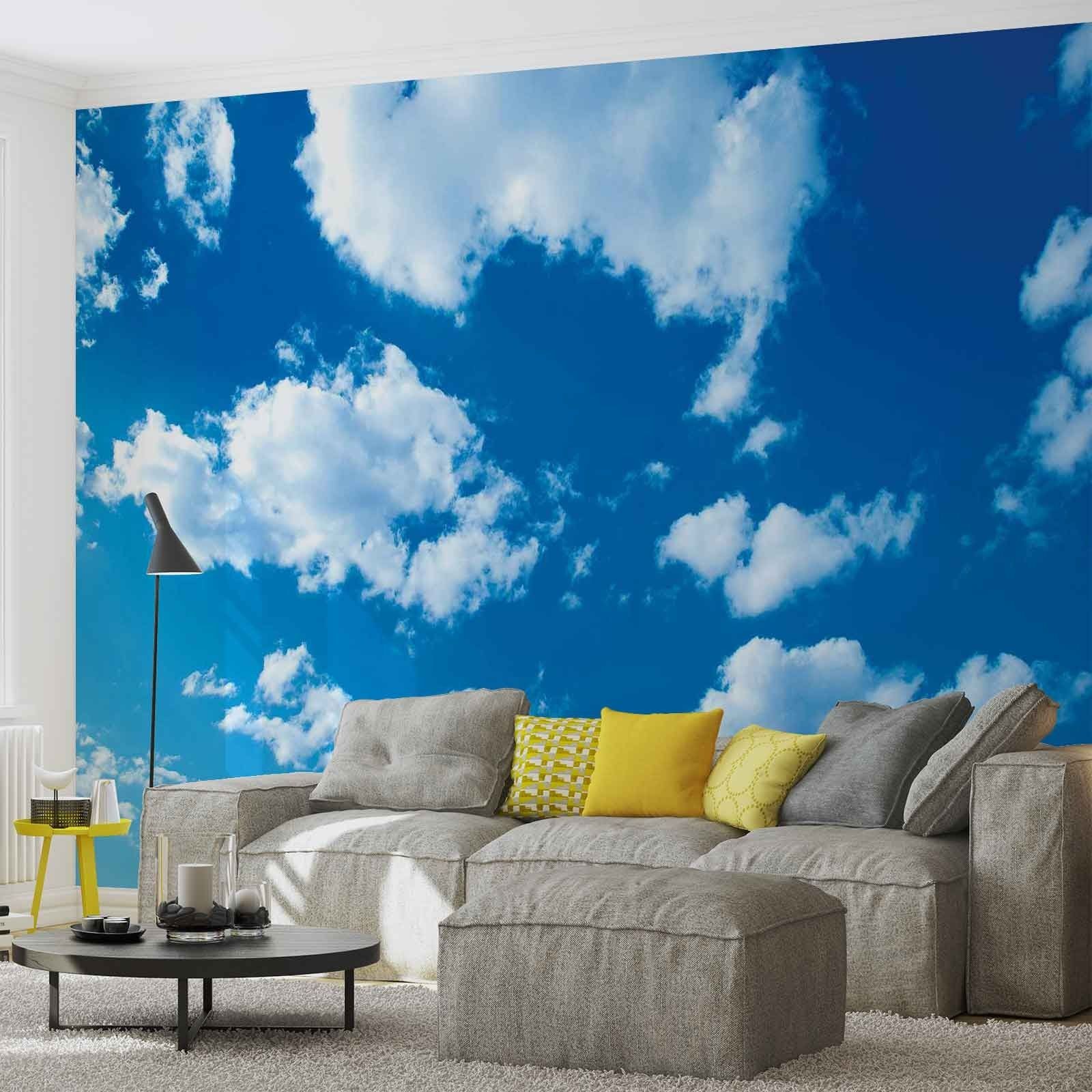 Giant size wall mural wallpapers blue sky for Cloud wall mural