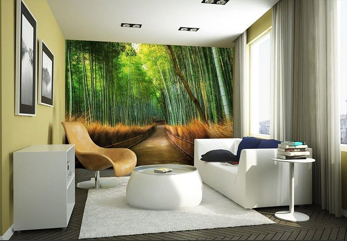 Bamboo forest wallpaper murals online store for Bamboo forest mural