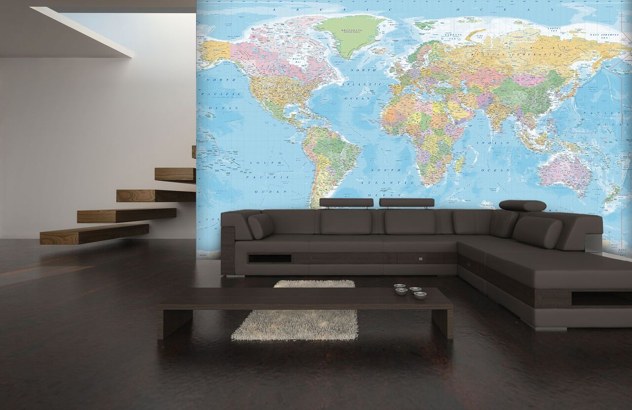 Map Of The World Non Woven Wall Mural