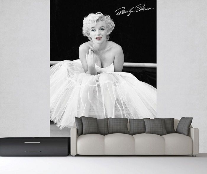 fototapete marilyn monroe wandbild 232x158cm wand. Black Bedroom Furniture Sets. Home Design Ideas