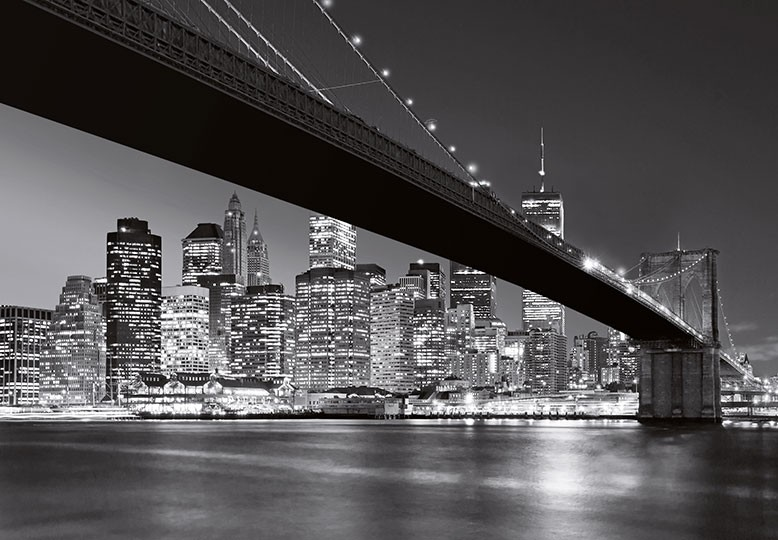 New york brooklyn bridge wall wallpaper for Brooklyn bridge black and white wall mural