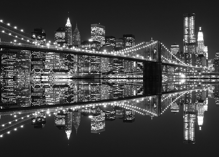 New york city night lights giant wall mural for City lights mural