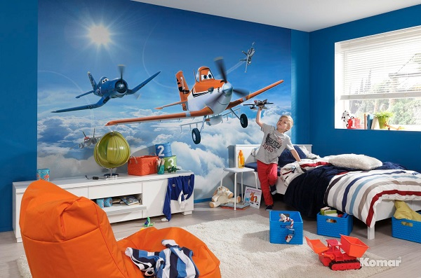 Planes above the clouds disney wall mural for Disney planes wall mural