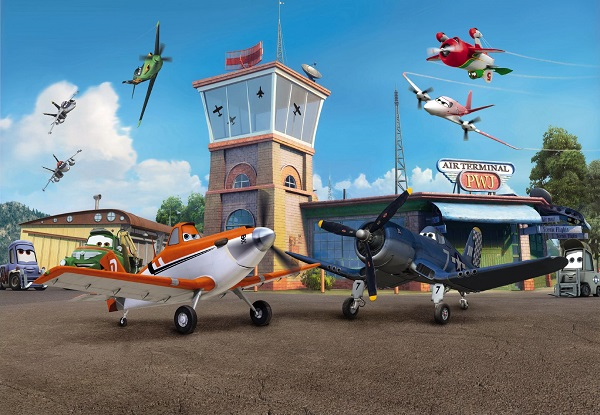 Planes from disney wall mural for Disney planes wall mural