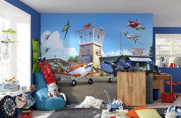 Planes from disney wall mural for Disney planes wallpaper mural