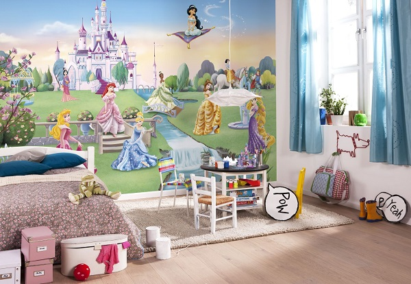 Castle Wall Mural princess castle disney wall mural