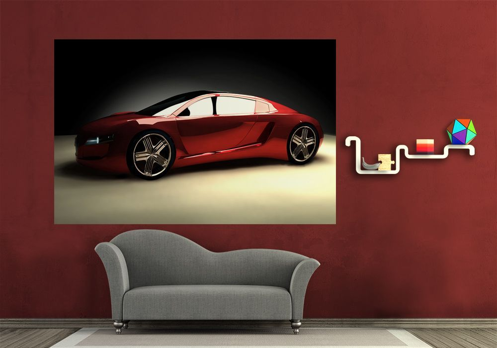 Red sports car wall murals for Car wall mural wallpaper