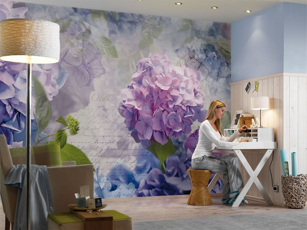 Spring flowers otaksa wall mural for Mural of flowers