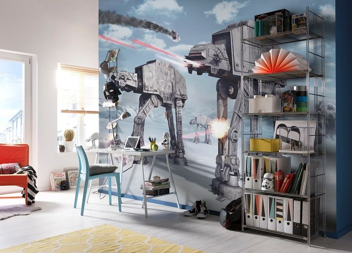 Star wars battle of hoth wall murals by homewallmurals for Mural star wars