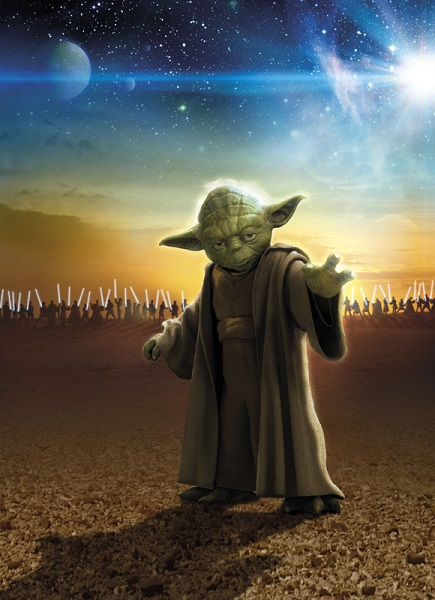 star wars master yoda wall mural. Black Bedroom Furniture Sets. Home Design Ideas