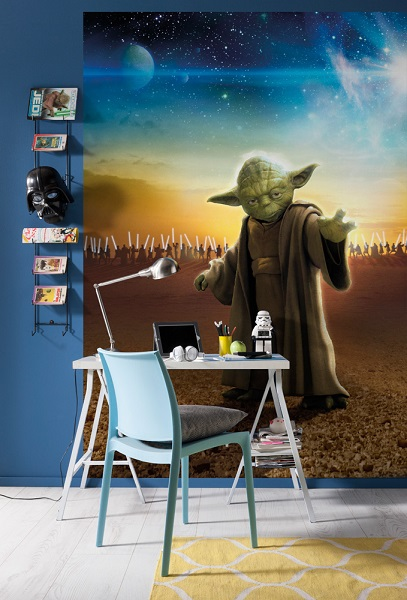 Star wars master yoda wall mural for Mural star wars