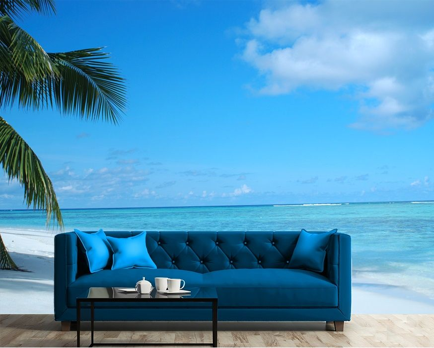 Beach exotic view wall murals online store for Beach mural wallpaper