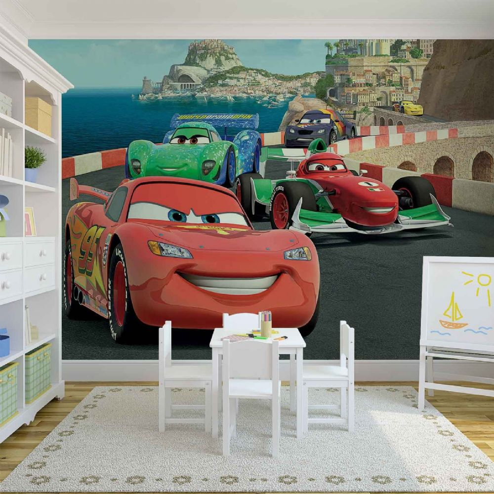 Disney cars giant wall mural by homewallmurals for Disney cars mural uk