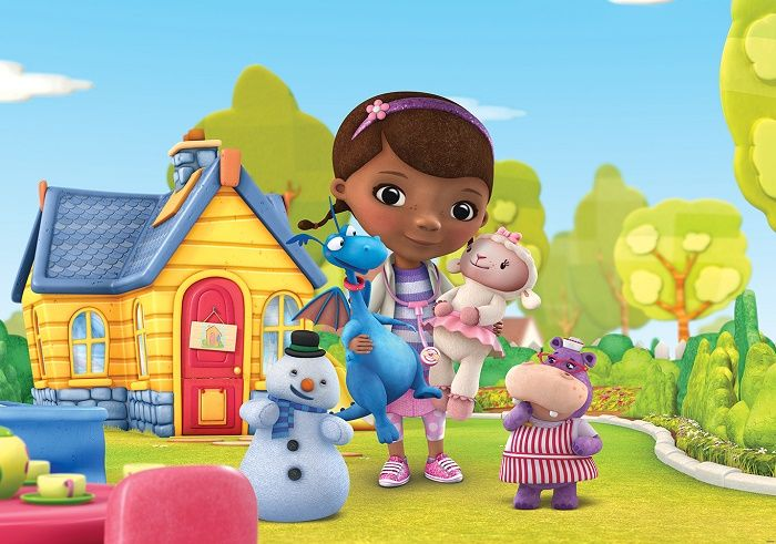 doc mcstuffins kids cartoon giant wall mural by homewallmurals