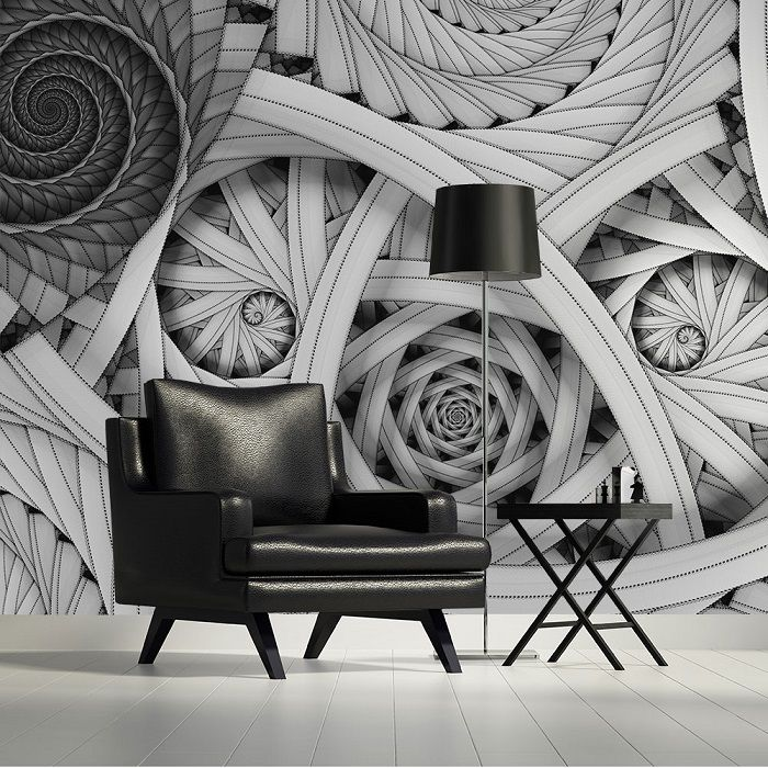 Black & White Abstract Composition Giant Wall Murals