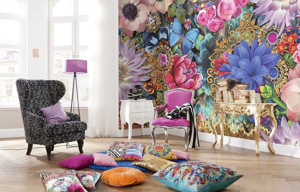 Abstract Flowers Melli Mello Wall Mural Part 69