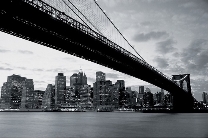 Brooklyn bridge view photo wall mural wallpaper online shop for Brooklyn bridge wallpaper mural