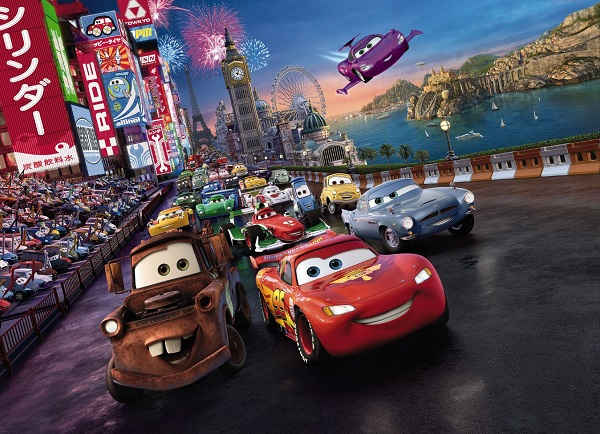 Cars 2 disney kids wall mural wallpaper for Disney cars mural uk