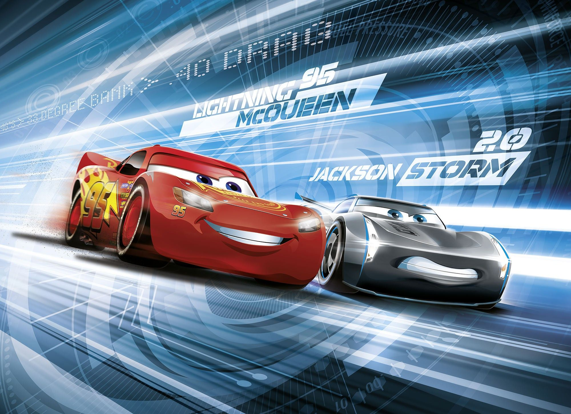 Wall mural photo wallpaper cars 3 disney kids bedroom boy for Disney cars wall mural full wall huge
