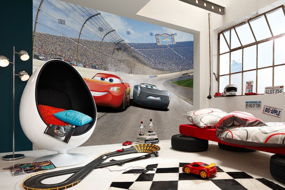 Cars 3 disney wall mural wallpaper buy it now for Disney cars mural uk