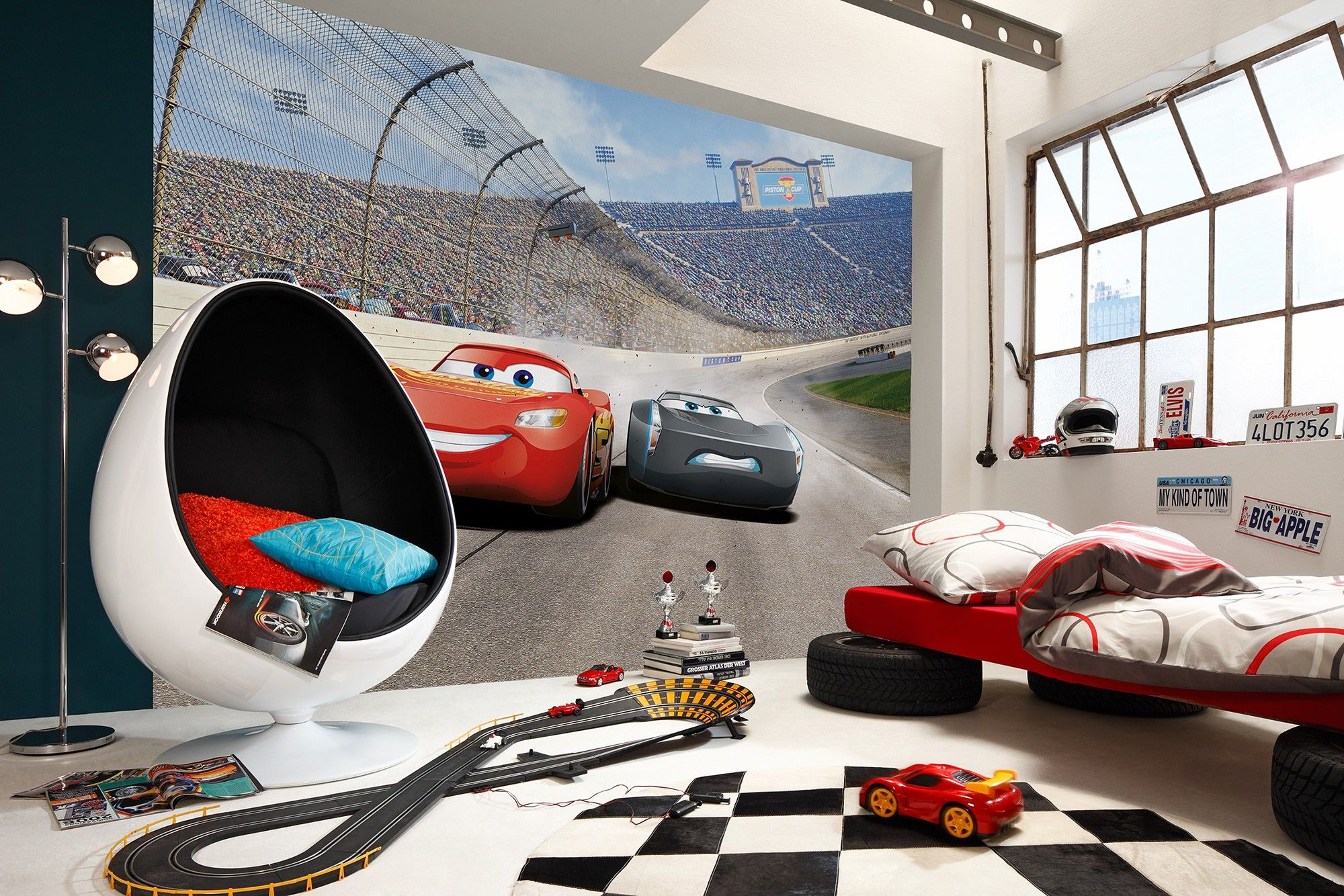 Cars 3 disney wall mural wallpaper buy it now for Disney cars wall mural