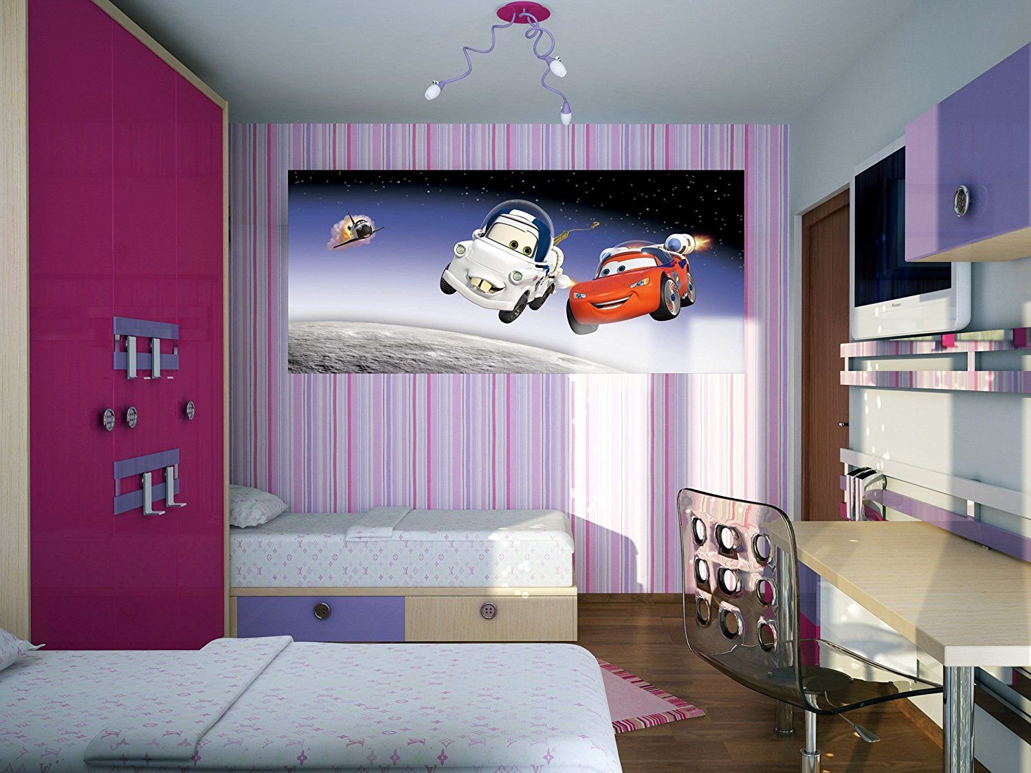 Disney bedroom wall murals for Disney wall mural uk