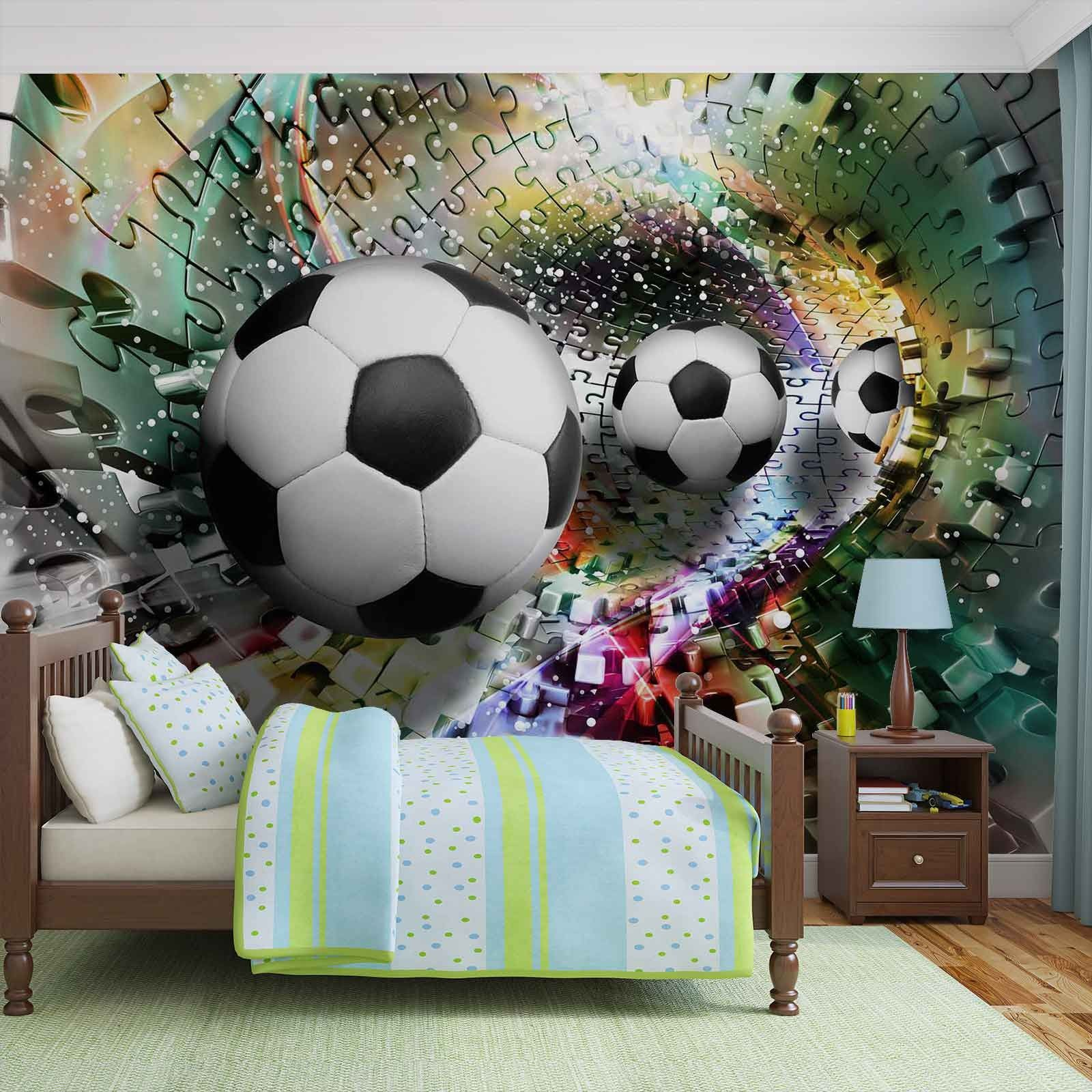 Giant Size Wall Mural Wallpapers Puzzle Football
