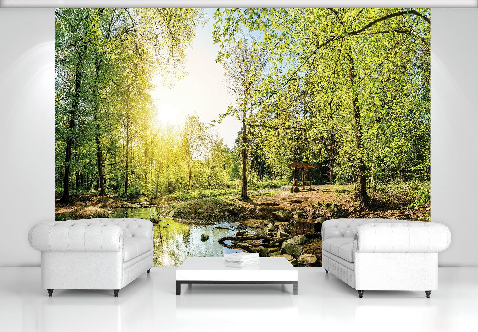 Giant Size Wall Mural Wallpapers Green Forest