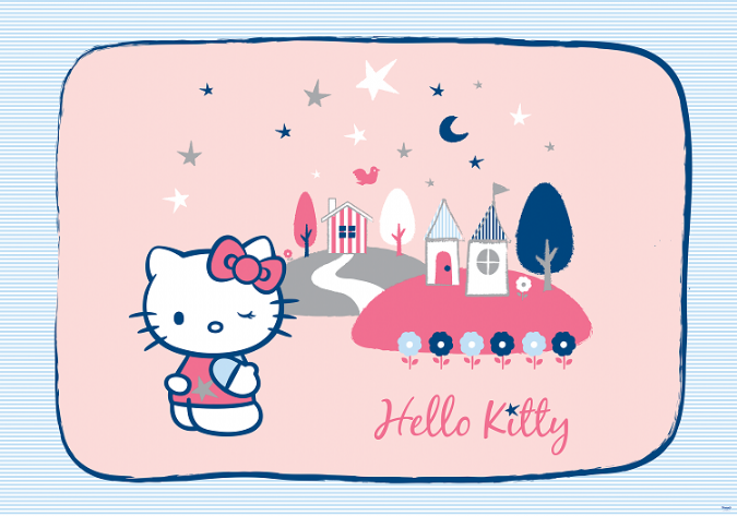 Tapete wandkunst 254x183cm hello kitty cartoon figur m dchen schlafzimmer foto ebay - Hello kitty schlafzimmer ...