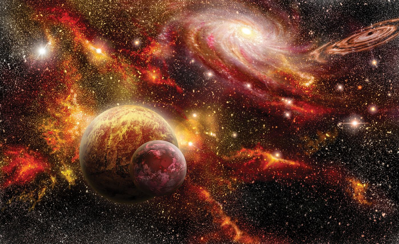 Cosmic space planets wallpaper huge photo mural black for Disney cars wall mural full wall huge