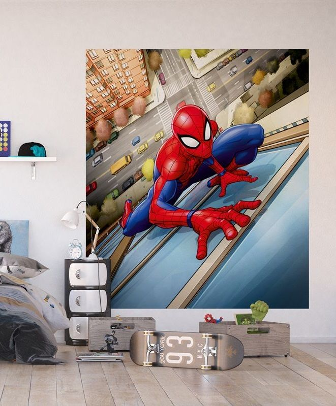 Details About Spiderman Wall Mural Wallpaper Childrens Bedroom Premium Marvel Comics Marvel