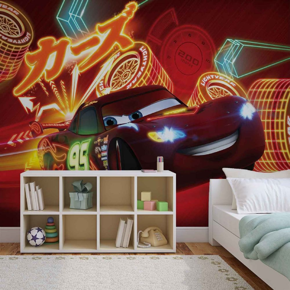 Boys room wall murals for wall for Cars 2 wall mural
