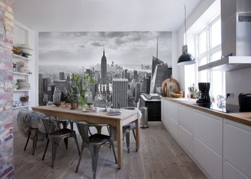 New York City giant wall mural