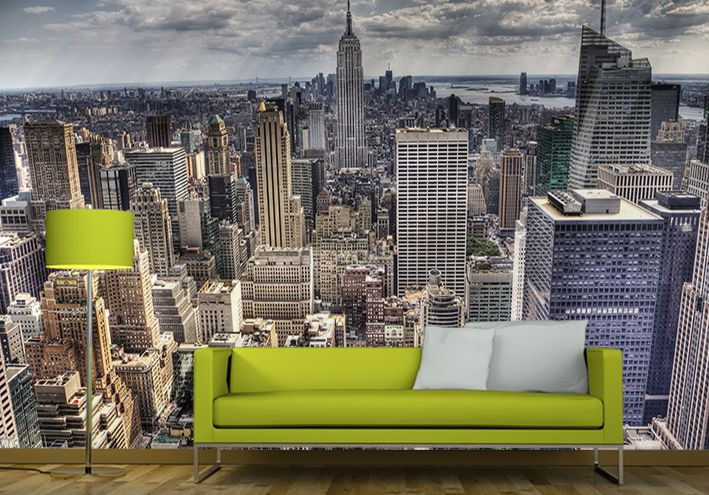 new york skyline giant wall murals