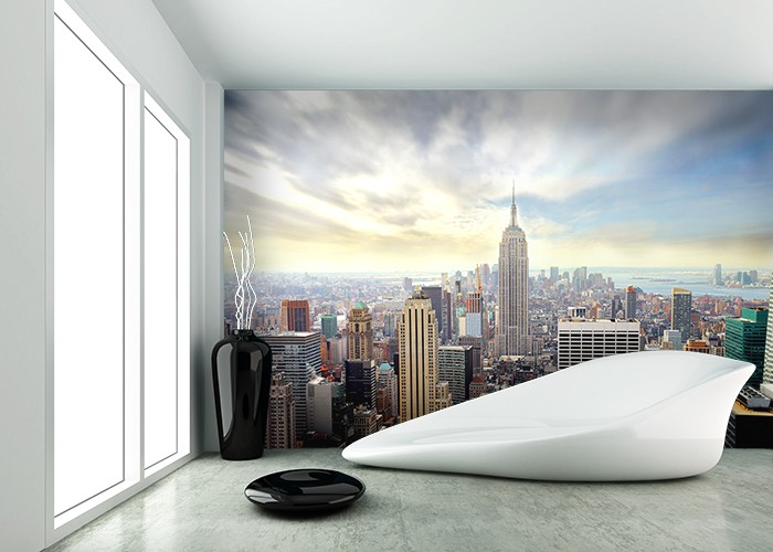 New york skyline wall murals for City scape wall mural