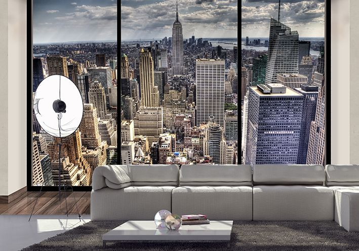 new york skyline wallpaper murals penthouse