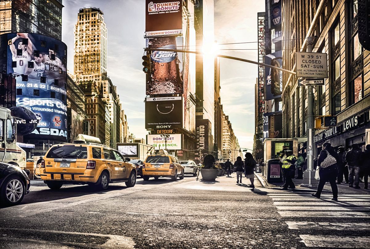 New york times square wall mural for Jugendzimmer poster