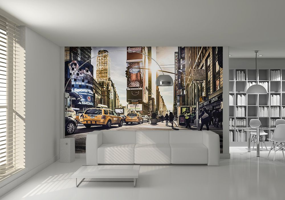 wall mural new york. Black Bedroom Furniture Sets. Home Design Ideas