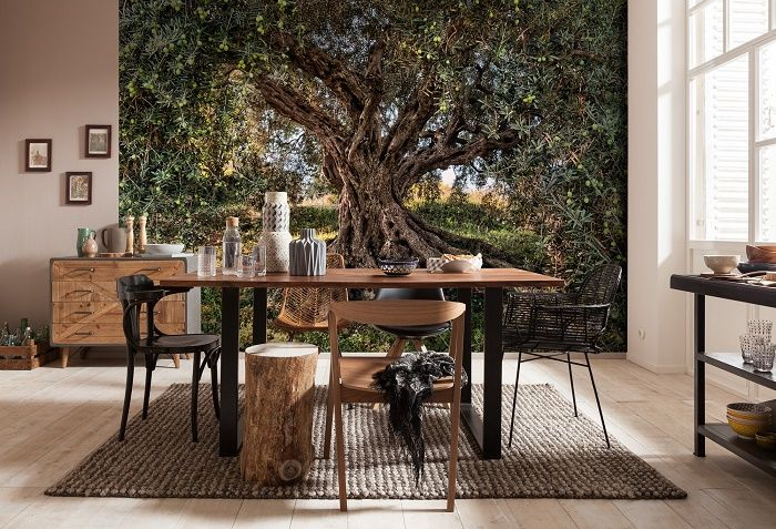 Olive tree national geographic wall mural wallpaper for Colocar papel mural