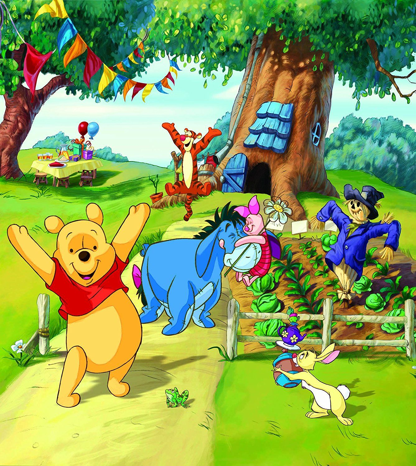 Details About 79x71inch Wall Mural Wallpaper For Kids Bedroom Disney Winnie Pooh Baby Room Art